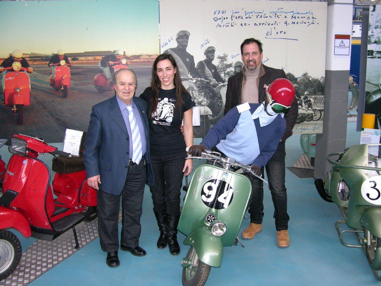 Giuseppe Cau al Museo con Vanessa e Andrea Fiore